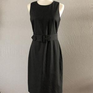 J. Crew Gray Wool Pinstripe Sheath Dress Sz 4